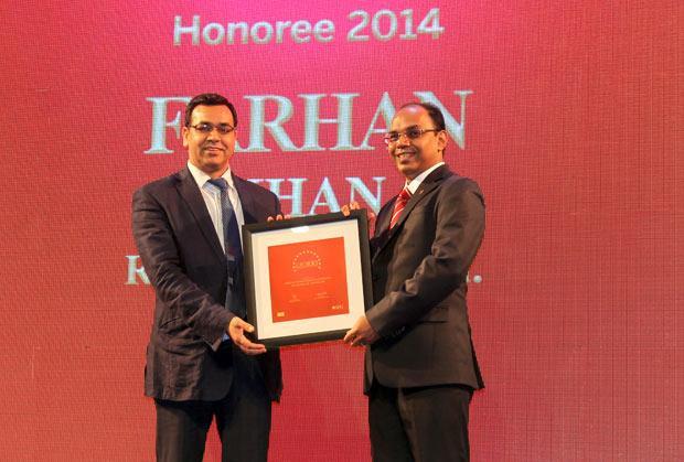 The Dynamic 100: Farhan Khan, VP - IT of Radico Khaitan receives the CIO100 Award for 2014
