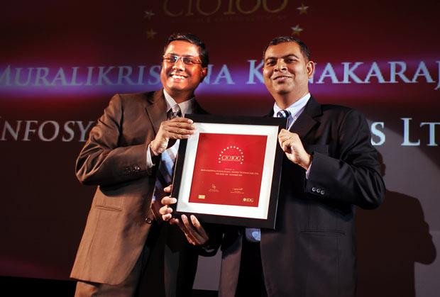 The Agile 100: Muralikrishna K, Sr. VP Group Head-Computer, Infosys receives CIO100 Award for 2010