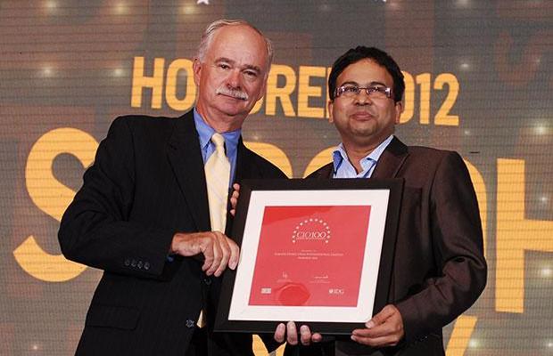 The Resilient 100: Subodh Dubey, Group CIO & Sr. VP- IT of Usha International receives the CIO100 Award for 2012