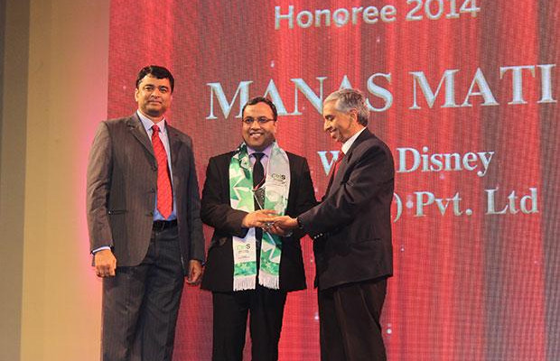 Business Transformer: Manas Mati, Executive Director - Technology of The Walt Disney Company receives the CIO100 Special Award for 2014 from , constituted in association with CtrlS