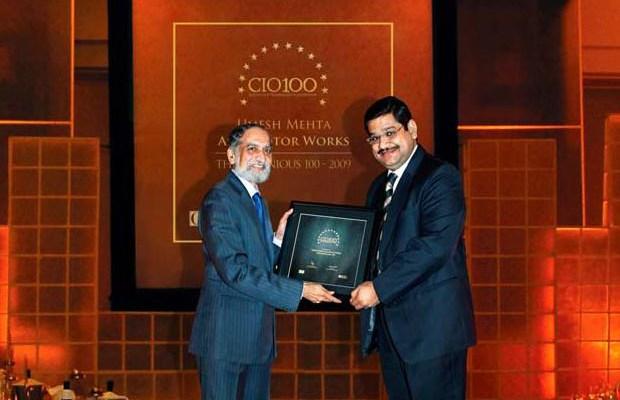 The Ingenious 100: Umesh Mehta, VP-IT of AMW Motors receives the CIO100 Award for 2009
