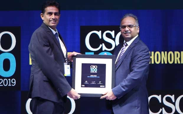Anil Nair, Senior Manager-IT at SHV Energy India receives the CSO100 Award for 2019