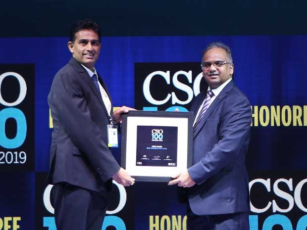 Anil Nair, Senior Manager-IT at SHV Energy India receives the CSO100 Award for 2019