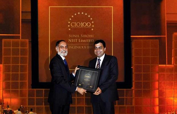 The Ingenious 100: Sunil Sirohi, Sr. VP - IT of NIIT receives the CIO100 Award for 2009