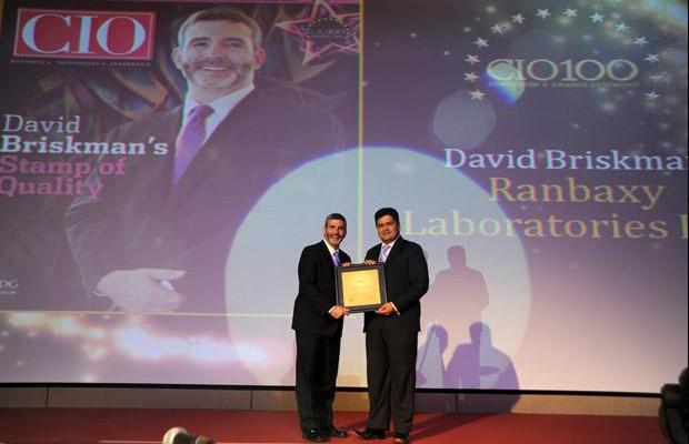 The Creative 100: David Briskman, VP & CIO of Ranbaxy Laboratories receives the CIO100 Award for 2011