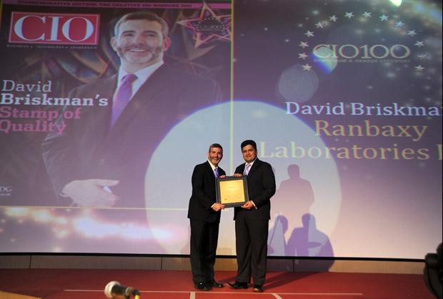 The Creative 100: David Briskman, VP & CIO of Ranbaxy Laboratories receives the CIO100 Award for 2011