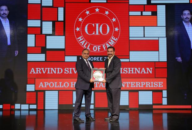 Hall of Fame: Arvind Sivaramakrishanan, Group CIO, Apollo Hospitals receives the CIO100 Special Award for 2018