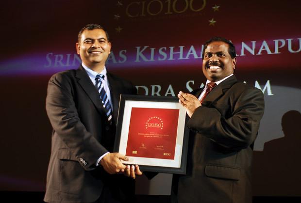 The Agile 100: Srinivas Kishan Anapu, Head-Internal Information Systems of Tech Mahindra receives the CIO100 Award for 2010