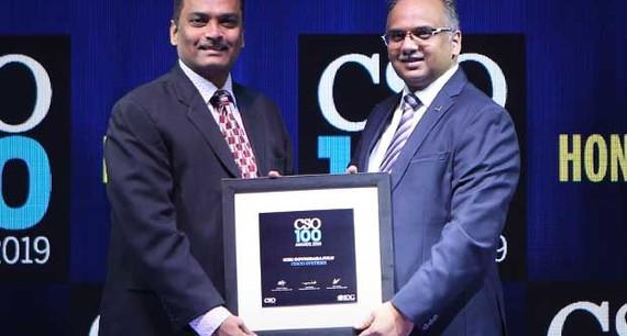 Giri Govindarajulu, CISO – APAC at Cisco Systems, receives the CSO100 Award for 2019