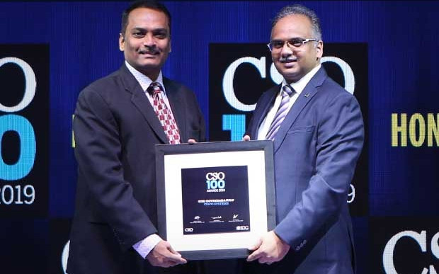 Giri Govindarajulu, CISO – APAC at Cisco Systems, receives the CSO100 Award for 2019