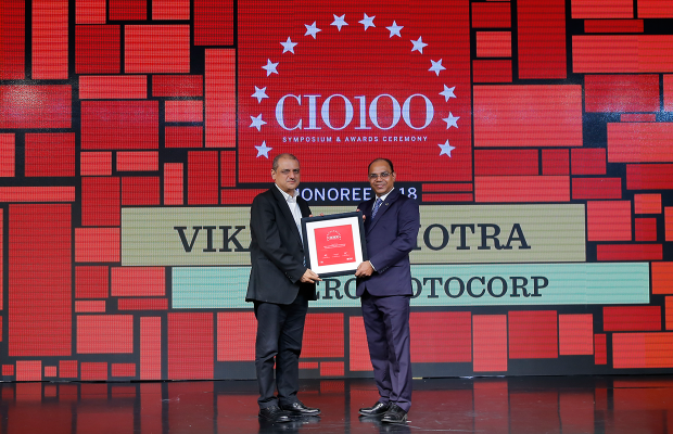 The Digital Architect: Vikas Malhotra, Head- Business Solutions & Support at Hero MotoCorp receives the CIO100 Award for 2018