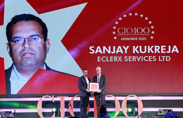 The Versatile 100: Sanjay Kukreja, Principal-IT of Eclerx Services receives the CIO100 Award for 2015