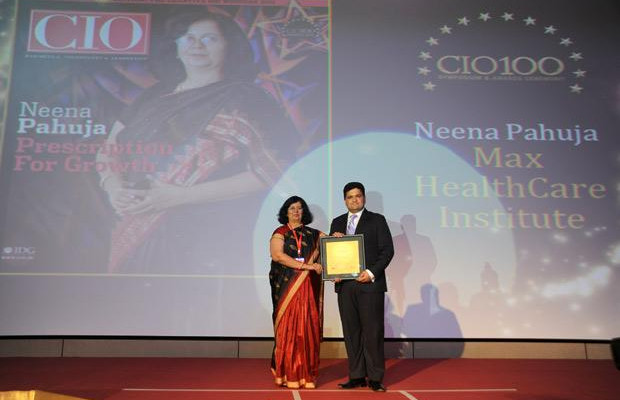 The Creative 100: Neena Pahuja, Head-IT of Max Healthcare receives CIO100 Award for 2011