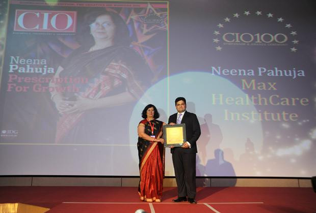 The Creative 100: Neena Pahuja, Head-IT of Max Healthcare receives CIO100 Award for 2011
