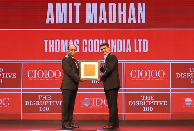The Disruptive 100: Amit Madhan, President and Group Head –IT and e-business, Thomas Cook, receives the CIO100 Award for 2019