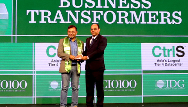 Business Transformer: Narendra Sonawane of Infosys receives the CIO100 Special Award for 2019 on behalf of Binod Hampapur, EVP and Global Head of Talent & Technology Operations, Infosys