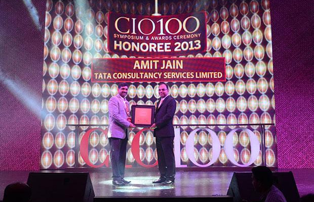 The Astute 100: Amit Jain, Global Head-Infrastructure Services of Tata Consultancy Services receives the CIO100 Award for 2013