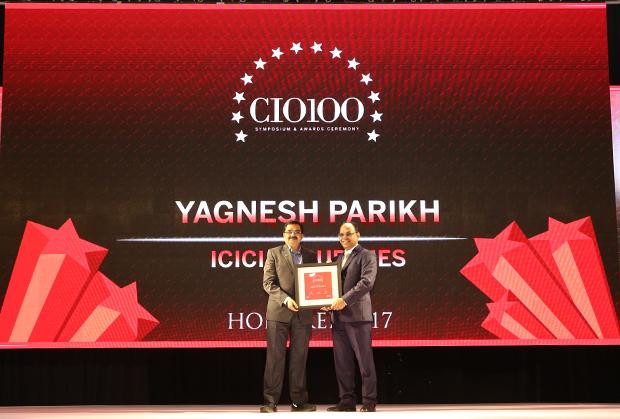 The Digital Innovators: Yagnesh Parikh, EVP and CTO at ICICI Securities receives the CIO100 Award for 2017