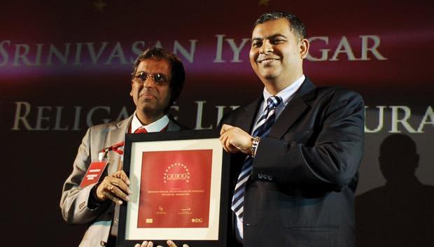 The Agile 100: Srinivasan Iyengar, COO of Aegon Religare Life Insurance receives the CIO100 Award for 2010