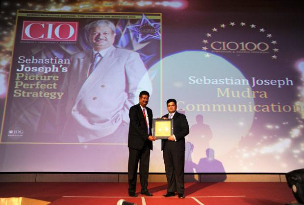 The Creative 100: Sebastian Joseph, CTO of DDB Mudra Group receives the CIO100 Award for 2011