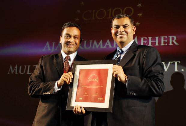 The Agile 100: Ajay Kumar Meher, VP - IT & New Media of Sony Entertainment Television India receives the CIO100 Award for 2010