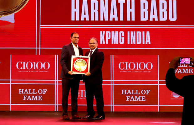 Hall of Fame: Harnath Babu, Chief Information Officer, KPMG India receives the CIO100 Special Award for 2019