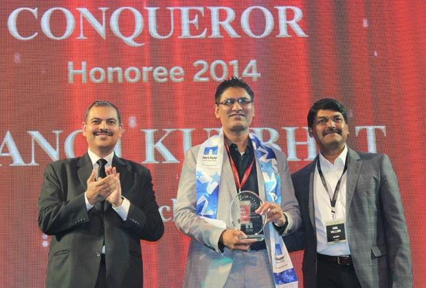 Cloud Conqueror: Manoj Kumbhat, Sr. VP & Global CIO, HCL Technologies receives the CIO100 Special Award for 2014 in association with NetApp India