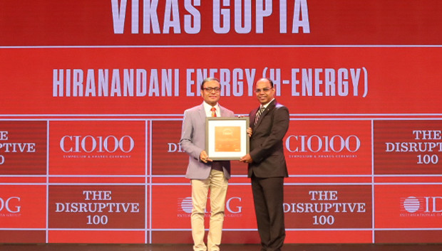 The Disruptive 100: Vikas Gupta, CIO, H-Energy receives the CIO100 Award for 2019