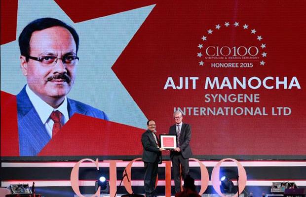 The Versatile 100: Ajit Manocha, Associate VP and CIO at Syngene International receives the CIO100 Award for 2015