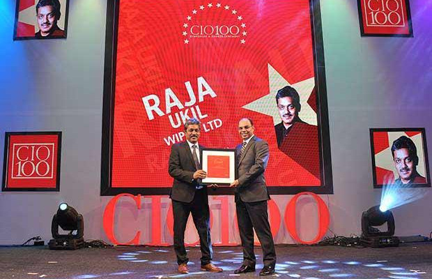 The Transformative 100: Raja Ukil, CIO at Wipro receives the CIO100 Award for 2016