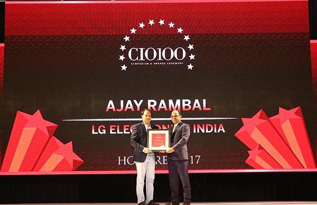 The Digital Innovators: Ajay Rambal, Head-IT, LG Electronics India receives the CIO100 Award for 2017