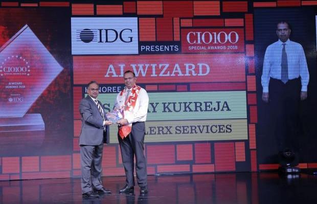 AI Wizard: Sanjay Kukreja, Principal– IT, eClerx Services, receives the CIO100 special award for 2018