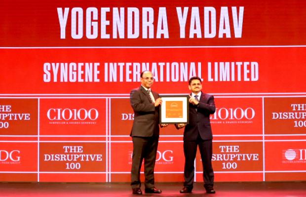 The Disruptive 100: Yogendra Yadav, Head Informatics, Syngene International receives the CIO100 Award for 2019