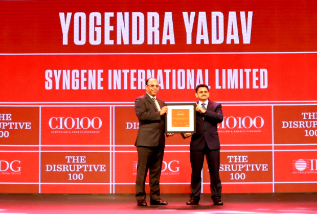 The Disruptive 100: Yogendra Yadav, Head Informatics, Syngene International receives the CIO100 Award for 2019