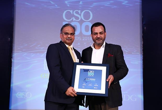 Bithal Bhradwaj, CISO of GE receives CSO100 Award for 2018