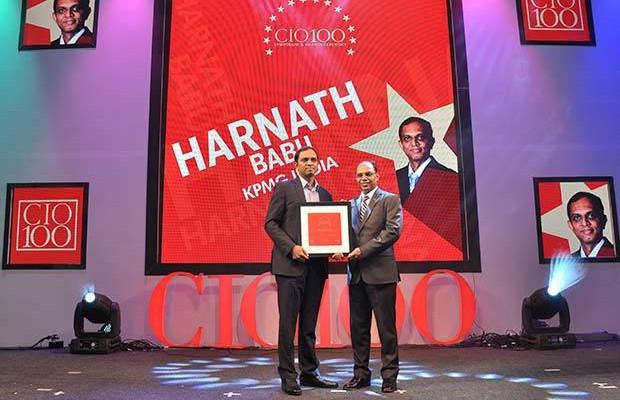The Transformative 100: Harnath Babu, CIO of KPMG India receives the CIO100 Award for 2016