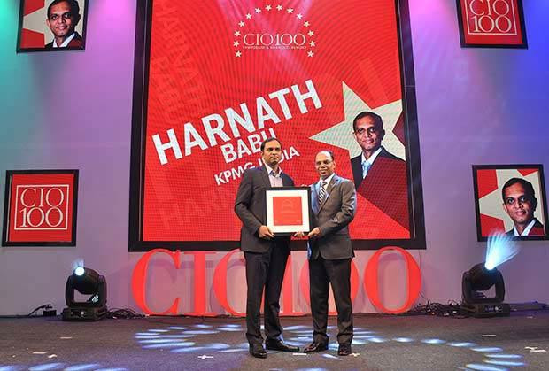 The Transformative 100: Harnath Babu, CIO of KPMG India receives the CIO100 Award for 2016