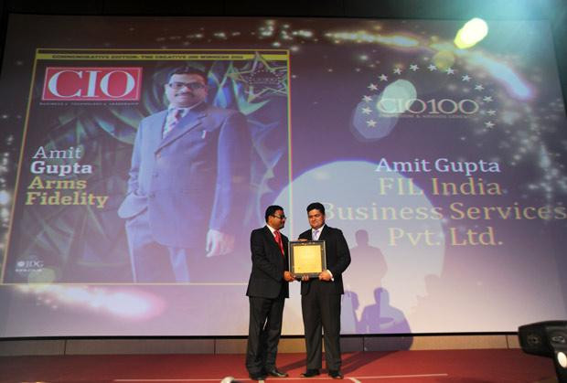 The Creative 100: Amit Gupta, VP-IT of Fidelity Business Services India receives the CIO100 Award for 2011