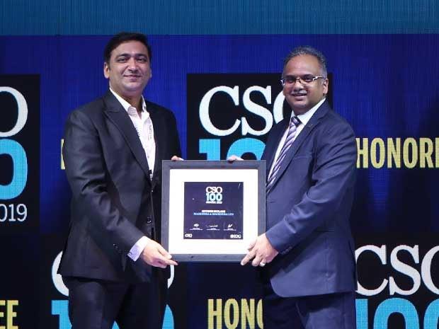 Hitesh Mulani, VP & Group CISO at Mahindra & Mahindra receives the CSO100 Award for 2019