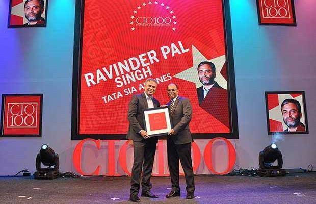 The Transformative 100: Ravinder Pal Singh, CIO and SVP-Innovation at Tata Sia Airliners (Vistara) receives the CIO100 Award for 2016