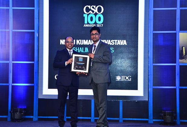 Niraj Srivastava, Head-IS and IT, Shalimar Paints receives the CSO100 Award for 2017.