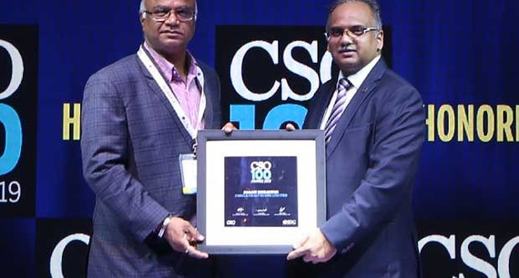 Sanjay Moralwar, Senior General Manager at Cadila Healthcare – Zydus Group, receives the CSO100 Award for 2019