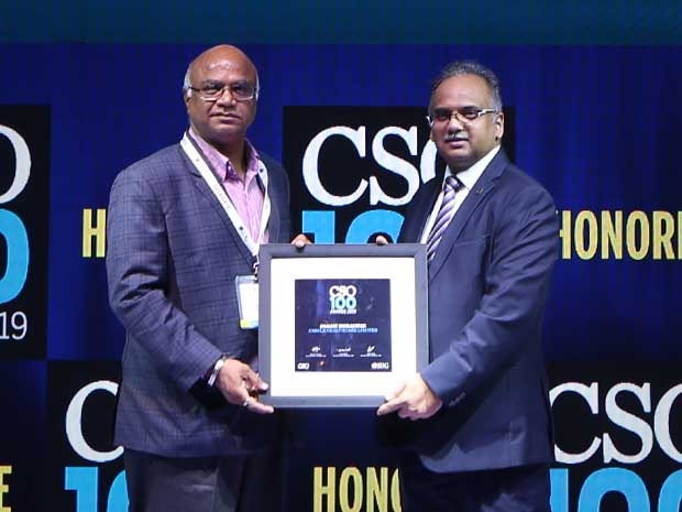 Sanjay Moralwar, Senior General Manager at Cadila Healthcare – Zydus Group, receives the CSO100 Award for 2019
