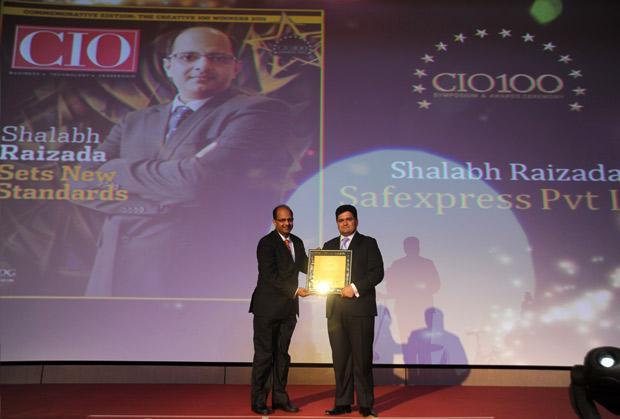 The Creative 100: Shalabh Raizada, VP - IT of Safexpress receives the CIO100 Award for 2011