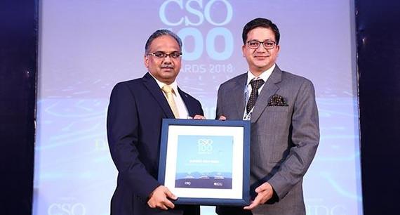 Vijendra Singh Rawat, DGM-IT, Dharampal Satyapal receives the CSO100 Award for 2018
