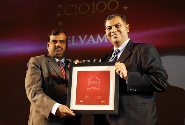 The Agile 100: Selvam K K, Group CIO of Siva Industries and Holdings receives the CIO100 Award for 2010