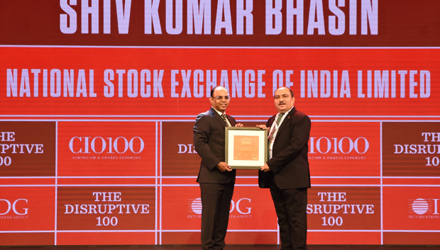 The Disruptive 100: Shiv Kumar Bhasin, Chief Technology and Operations Officer, National Stock Exchange (NSE) receives the CIO100 Award for 2019