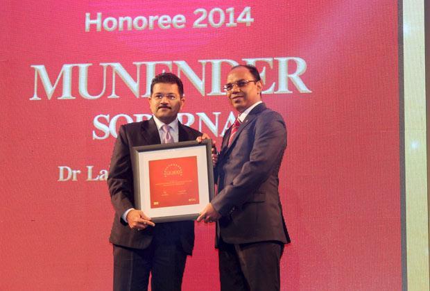 The Dynamic 100: Munender Soperna, CIO, Dr. Lal Pathlabs receives the CIO100 Award for 2014
