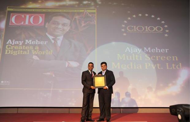 The Creative 100: Ajay Kumar Meher, VP - IT & New Media of Sony Entertainment Television India receives the CIO100 Award for 2011