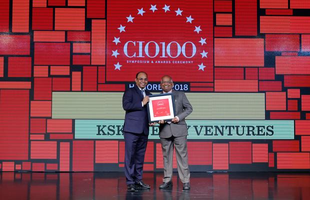The Digital Architect: G S Rao, CIO at KSK Energy Ventures receives the CIO100 Award for 2018